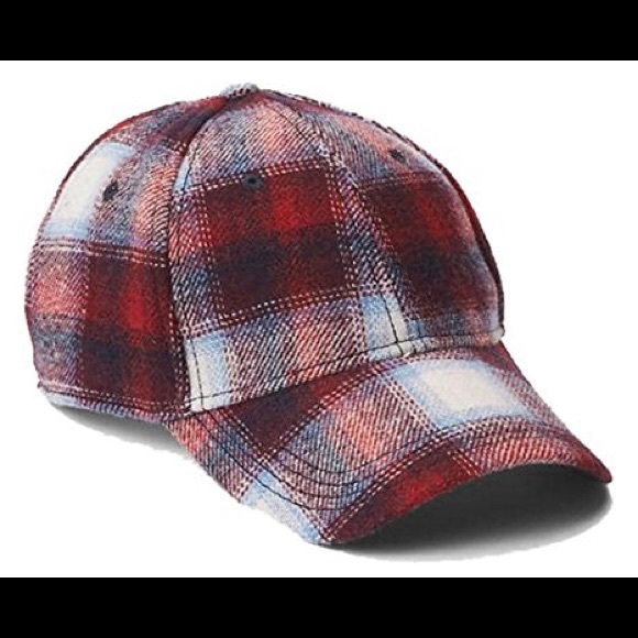 Gap Kids Limited Edition Pendleton Red Plaid Logo Baseball Cap Hat Sz S//M NWT